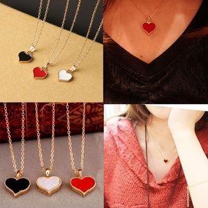 Jewelry - **Last One**Red Enamel Heart Necklace